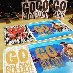 #GoBoldly #printing today!  #art #TenaciousGoods #printmaking #linocut #linoprint #reliefprint #family #kids #lion