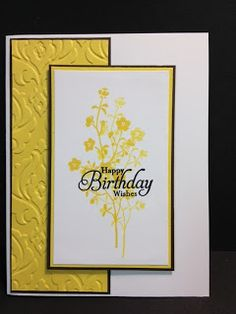 A Morning Meadow Birthday Wish Birthday Card Stampin' Up! Rubber Stamping Handmade Card Stamp A Stack