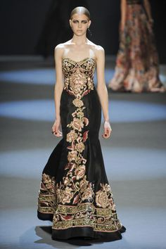 The widow Margaery Tyrell, Naeem Khan fall 2011