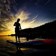 """""""Starboard sunset. PC/Jim brewer. #suplife #paddle"""" Photo taken by @standuppaddlemagazine on Instagram, pinned via the InstaPin iOS App! http://www.instapinapp.com (02/01/2016)"""