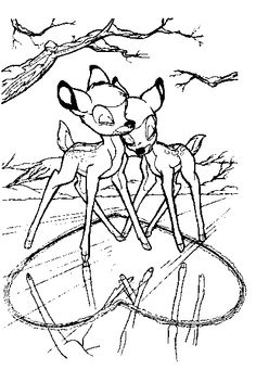 Bambi Coloring Page - Print Bambi pictures to color at AllKidsNetwork.com