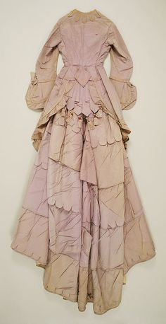 Dress Date: ca. 1871 Culture: American Medium: silk