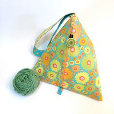 Knitting Project Bag Pyramid Kaffe Fassett by elinorandmarianne, $26.00