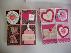 Carolyn's Creative Corner: Valentine Pop-Up Boxes--Love is in the Air! Using my Stash!