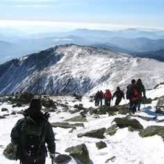 Winter hike on Mt. Washington - NH.