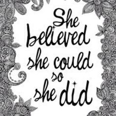 She believed she could so she did #aliceandpink