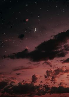 new moon visualldreams Wallpaper HD Night Sky Wallpaper, Cloud Wallpaper, Cute Wallpaper Backgrounds, Galaxy Wallpaper, Cute Wallpapers, Moon And Stars Wallpaper, Night Aesthetic, Aesthetic Art, Aesthetic Pictures