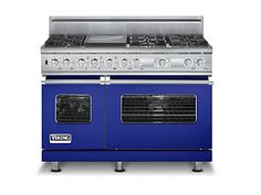 Cobalt Blue #VikingRange...I put this color in a blue and white kitchen for a client, it was awesome!