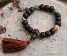 Bodhi deed wrist mala bracelet - look4treasures on Etsy, $34.95