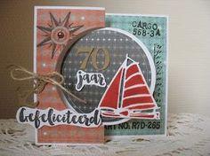 card nautical sailboat Marianne design Eline's Beach House stamp set - een berg kaartjes (en meer): Mannen flipcard