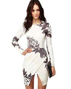 Sheinside® Women's White Long Sleeve Random Floral Print Wrap Dress (S, White) Sheinside http://www.amazon.com/dp/B00OOH0TBK/ref=cm_sw_r_pi_dp_Elz6ub0GNF9ZV
