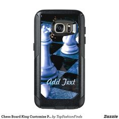 Shop Chess Board King Customize Personalize OtterBox Samsung Galaxy Case created by TopFashionFinds. Personalize it with photos & text or purchase as is! Samsung Galaxy Phones, Synthetic Rubber, Slipcovers, Protective Cases, Galaxies, Survival, Boards, S7 Case, Chess