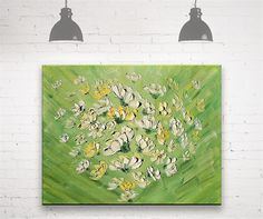 Fountain of flowers  Original Oil Painting on canvas palette
