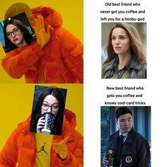 Funny Marvel Memes, Marvel Jokes, Avengers Memes, Marvel Avengers, Marvel Comics, Marvel Heroes, Funny Memes, Old Best Friends, Wanda Marvel