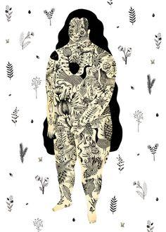 Inked Lady Art Print