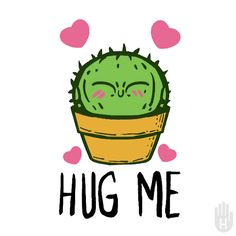 Cute Little Drawings, Cute Kawaii Drawings, Cactus Illustration, Cactus Stickers, Pin On, Cactus Art, Gif Animé, Color Pencil Art, Hug Me