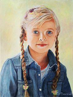Portret olejny autor: Tomasz Mrowiński