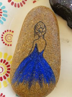 Ballerina Rock Painting Idea - person girl
