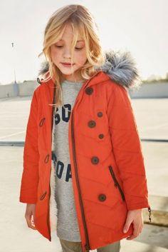 Buy Orange Long Padded Jacket (3-16yrs) online today at Next: Slovakia