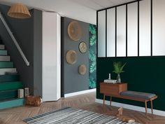 Entrée : porte de placard pliante, idéal pour les petits espaces. Decoration, Gallery Wall, Home Decor, Closet Solutions, Small Space, Spaces, Environment, Trends, Puertas