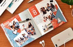 Yearbook Layouts, Photo Books, Scrapbook Designs, Book Pages, Page Design, Ideas Para, Collage, Scrapbooking, Memories