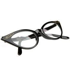 c90ddbe992 Amazon.com  zeroUV - Vintage Cateyes 80s Inspired Fashion Clear Lens Cat  Eye Glasses