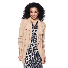 I love neutral prints for fall!  Cheetah print with a light jacket is a great and simple fall outfit! #HSN #FallFashion