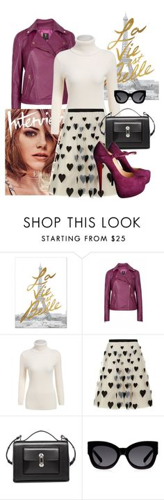 """Feeling Purple"" by brandonandrews500 ❤ liked on Polyvore featuring Ted Baker, Alice + Olivia, Balenciaga, Karen Walker and Christian Louboutin"