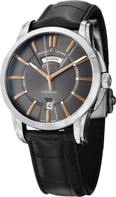 Men watches : Maurice Lacroix Pontos Men's Day Date Automatic Watch PT6158-SS001-03E