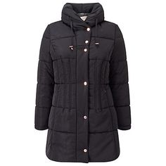 Buy Jacques Vert Mid Length Puffa Jacket, Black Online at johnlewis.com