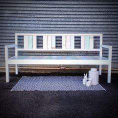 Handcrafted daybed made from 100% recycled timber - available for purchase in our showroom www.facebook.com/rawsunshinecoast