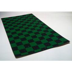 Black Diamond Scooter Grip Tape - Black / Green Checkers
