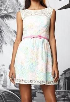 Lilly Pulitzer Morrison Lace Overlay Dress @Dorothy Todd Holladay this is sooo you