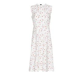 Marni Floral Sleeveless Dress ($1,870) via Polyvore featuring dresses, white, floral day dress, floral print dress, botanical dress, marni dress and flower print dress