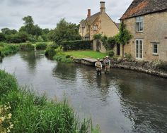The River Coln as it passes through Fairford - Fairford is a small town in Gloucestershire, England. The town lies in the Cotswolds on the River Coln, about 6 miles east of Cirencester, 4 miles west of Lechlade and 9 miles north of Swindon.