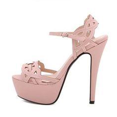 Sexy Laser Cute Design Peep Toe High Heel Sandals