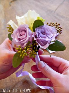 diy corsage!  i will use this in a few years! :)