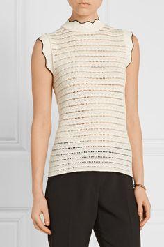 Erdem | Mariana stretch pointelle-knit sweater | NET-A-PORTER.COM