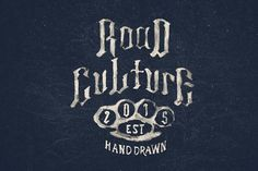 road culture is handmade type with blackletter style that inspired from bikers lettering style. road culture gives 2 font. first is blackletter hand drawn and serif hand drawn. this font si great for : clothing, logo, lettering, display, motorcycle tank fuel, poster, mural, etc.