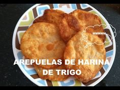 AREPUELAS DE HARINA DE TRIGO CON QUESO - YouTube Waffles, Pancakes, Muffins, Chicken, Meat, Ethnic Recipes, Youtube, Food, Anime