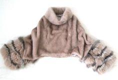 LUXUS 100% Echt Pelz Fur Nerz Mink Poncho Cape Mäntel Coat Jacke Vison Size M in Kleidung & Accessoires, Damenmode, Jacken & Mäntel   eBay