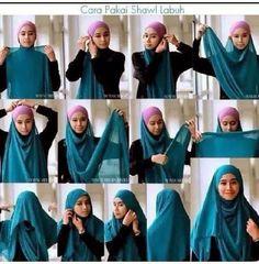 tutorial: shawl on Pinterest   Hijab Tutorial, Hijabs and ...
