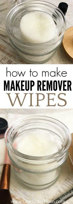 Learn how to make makeup remover wipes. These are the best eye make up remover wipes! Once you use these make up wipes, you won't buy store bought again! Try the best make up remover wipes. They are simple to make and work so well! #onecrazymom #diy #essentialoils