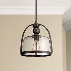 "Quoizel Piccolo 11 1/2"" Wide Bronze Mini Pendant Light - #2F387 | www.lampsplus.com"