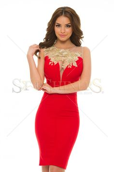 LaDonna Bright Lounge Red Dress