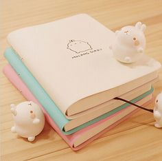 2017 2018 Cute Kawaii Notebook Cartoon Molang Rabbit Journal  Diary Planner Notepad for Kids Gift Korean Stationery Three Covers-in Notebooks from Office & School Supplies on Aliexpress.com | Alibaba Group