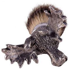 The English Pewter Co Silvertip Badger Hair Shaving Brush - Super & Silver Tip Shaving Brushes - Shaving Brushes