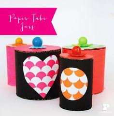 DIY Paper Tube Jars