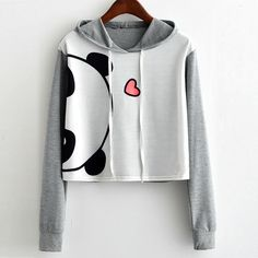 Cheap Feitong hoodies sweatshirt women 2017 girls animal print long sleeve hooded crop tops pullover sweatshirt tops moletom bts kpop, Buy quality pullover sweatshirts direct from China Suppliers: Fei Teenage Outfits, Teen Fashion Outfits, Casual Outfits, Top Fashion, Fashion Styles, Fashion Women, Jeans Fashion, Fast Fashion, Fashion Black