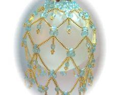 Viktorianische Pracht Perlen Ornament Abdeckung von michelleskobel